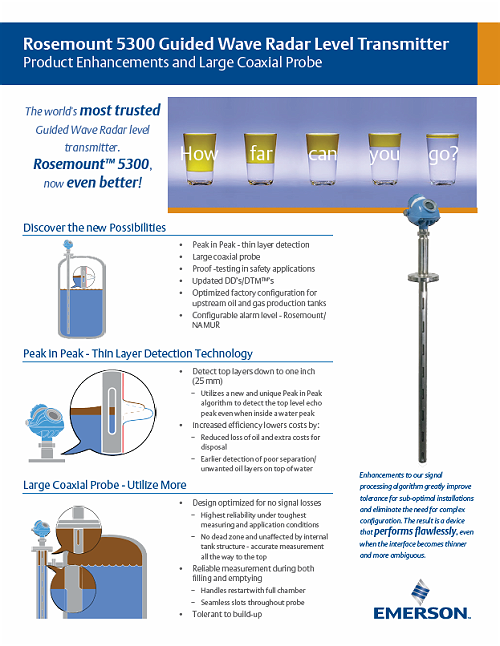 New Products for Engineers | Rosemount 5300 Series | Emerson